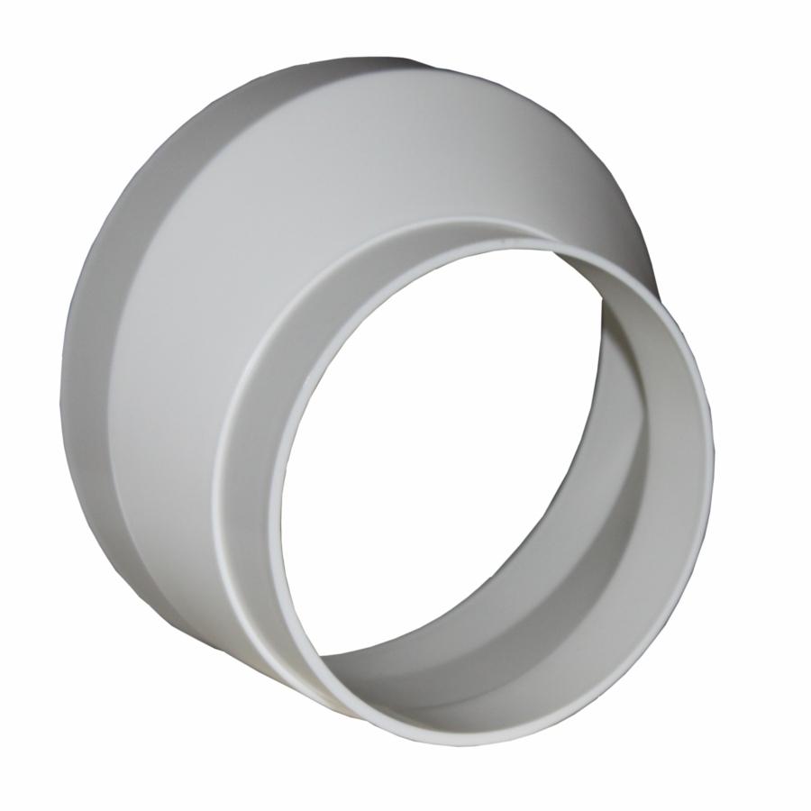 1012,5РЭП Эра. Соединитель эксцентриковый круглого воздуховода с круглым пластик D100/125
