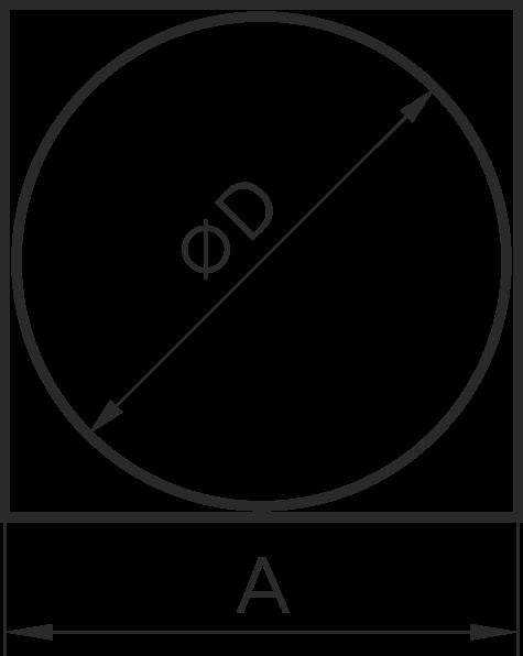10КВ Эра. Соединитель квадрата 100х100 с круглым воздуховодом пластик D100