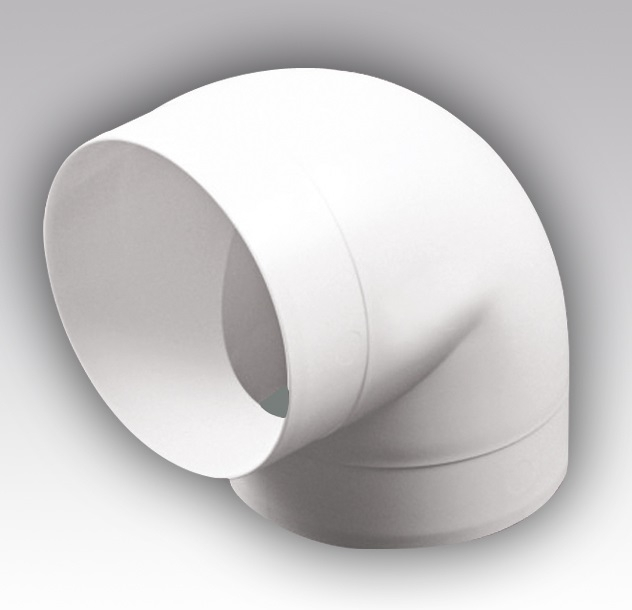 12,5ККП Эра. Колено круглое пластик 90° , D125