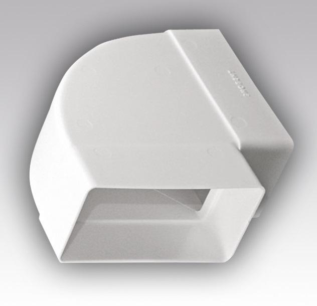 612КГП Эра, Колено горизонтальное пластик 90°, 60х120