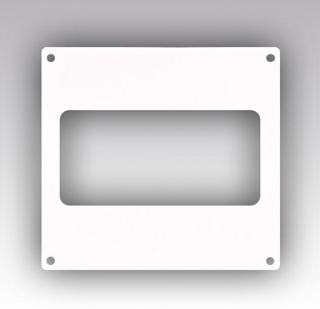 620НПП Эра, Накладка торцевая пластик 264х119, для воздуховода 60х204