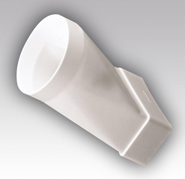 620СП16КП Эра, Соединитель эксцентриковый, плоского воздуховода с круглым пластик, 60х204/D160