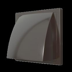 2121К12,5ФВ кор Эра. Выход стенной с обр.клапаном (коричневый)