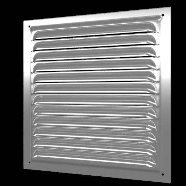 2525МЦ Эра. Решетка вентиляционная стальная оцинкованная 250х250