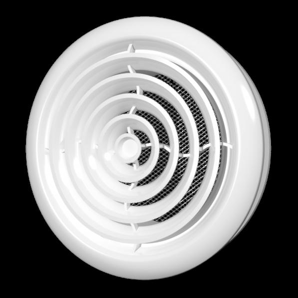 10DK Эра. Диффузор приточно-вытяжной со стопорным кольцом и фланцем D100